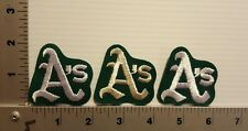 3-PCS OAKLAND ATHLETICS A'S VINTAGE EMBROIDERED PATCH