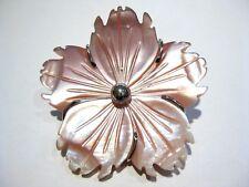 ciondolo spilla fiore madreperla  mother of pearl pendant brooch