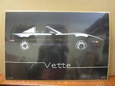 Vintage 1985 Vette poster car garage man cave  3942
