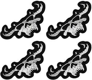 Danzig - Skull Logo Patch [Lot of 4] Patches Black Demon Symbol Emblem Badge