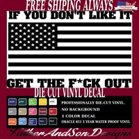 "5"" AMERICAN FLAG VINYL WINDOW DECAL STICKER funny,car,truck,military,laptop"