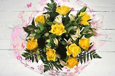 FRESH Birthday Flowers Delivered YellowRose Alstro FREE UK Next Day by Post