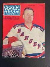 1961 Doug Harvey-Sport Revue Hockey Magazine Vintage New York Rangers Hockey