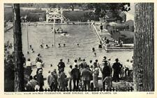 Public Pool, Warm Springs Foundation, Georgia ca 1920s Vintage Postcard