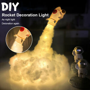Astronaut Cloud LED Night Light Lamp Rocket Shuttle Neon Space Galaxy Kids Gift