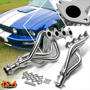 For 05-10 Ford Mustang GT 4.6 V8 Stainless Steel Long Tube Exhaust Header+Gasket