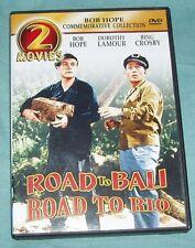 Road to Bali/Road to Rio (DVD, 2003) 2 DVD Set Bob Hope Bing Crosby