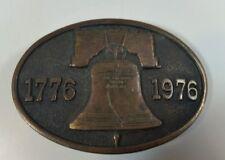 Vintage Adezy Bicentennial Brass Belt Buckle Liberty Bell 1776 1976