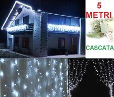 Cascata led bianchi natalizi.Natale,luci pioggia tenda bianca 5m 40cm neve 40