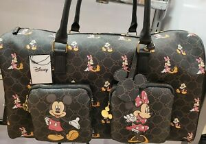 Disney's Mickey & Minnie Mouse Monogram Weekend Holdall/ Travel Bag