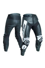 RST 2052 Tractech EVO 3 III Mens Leather Motorcycle Trousers Regular Leg White 38