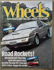 Wheels Mag May 82,Mitsubishi Starion,RX7,Never HOLDENS,Fiat 500T,Porsche 911 LID