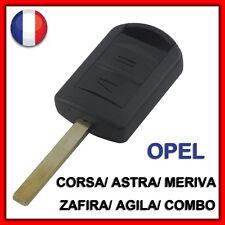 Coque PLIP Clé Télécommande Opel Corsa Agila Combo Meriva 2 Boutons +Lame vierge