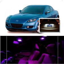For Mazda RX8 2004-2014 Pink LED Interior Kit + Xenon White License Light LED