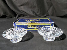 Collector's Crystal Gallery Pair of Genuine Crystal Candle Holders w/ Box