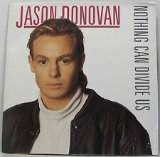 """JASON DONOVAN : NOTHING CAN DIVIDE US : POSTER Sleeve 7"""" Vinyl Single 45rpm EX"""