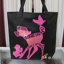 Disney Store Bambi Thumper Oh My Disney Tote Shoulder Bag Large Nwt