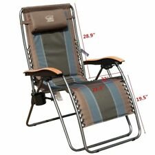 Timber Ridge Oversized XL Zero Gravity Chair Lounge Supports 350lbs Outdoor Home