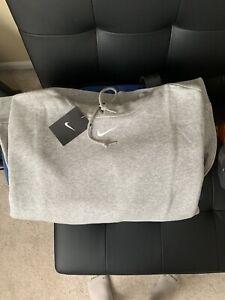 Grey Nike Vintage Style Center Swoosh Hoodie - Size L