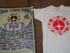 GOOSE LAKE 1970 MUSIC FESTIVAL POSTER  T-SHIRT AND 9 TICKET TOKENS STOOGES MC5