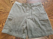 Knightsbridge Men's Cargo Shorts - Size 34 - Olive Green - Excellent Condition