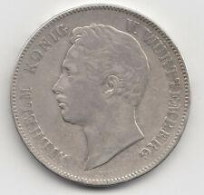 Münze 2 Taler 1855 Wilhelm König v. Württemberg Doppeltaler 3 1/2 Gulden Silber