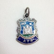 Ayr Scotland Travel Shield Souvenir Been There Charm Fine Silver FMGE Castle
