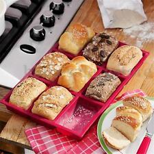 9 Cavity Rectangle Silicone Bread Cupcake Mold DIY Chocolate Soap Bakeware Tray