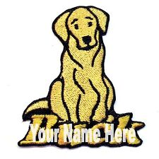 Labrador Retriever Dog Custom Iron-on Patch With Name Personalized Free