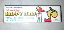 VINTAGE 1970'S DRINKING HAPPY BIRD NEW IN BOX WITH INSTRUCTIONS RARE
