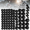 75pc Black Bolt Toppers Cap Cover For Harley Davidson Softail Twin Cam 84-06 AU