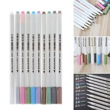 10pcs Metallic Colored Ink Water Chalk Pen For Scrapbook Photo Album Art Marker