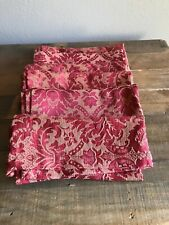 Waterford Linens Cherry Red Gold Wheat Damask Napkins Set Of 6
