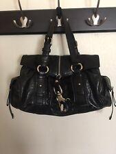 NWT Francesco Biasia Good Girl Leather Satchel Handbag in Black