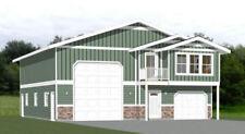 40x48 House with 1-Car 1-RV Garage - PDF FloorPlan - 1,613 sqft - Model 2C