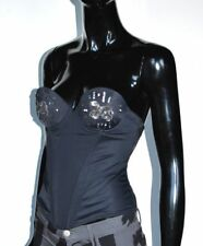 KEITH HARING Patricia Field CORSET TOP BUSTIER 32B Sequin Silver Members16
