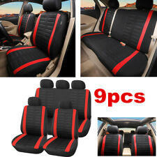 9pc Car Seat Cover Universal Seat Cushion Protector For Interior Accessories