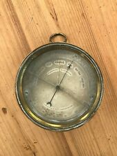 Antique Brass Marine Holosteric Barometer and Thermometer, Nautical