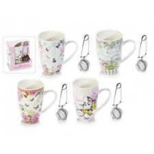 Tisaniera Porzellantasse mit Geschenk-Box - Tee - Teetasse - Filtertassen