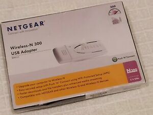 NetGear Model WN111-VCNAS N300 (300Mbps) WiFi Wireless-N -G USB RangeMax Adapter