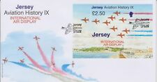 Unaddressed Jersey FDC 2007 Aviation History IX International Air Display Sheet