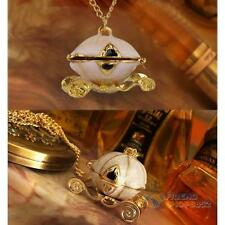 Women Fashion Magical Queen's Cinderella Magic Pumpkin Carriage Locket Necklace