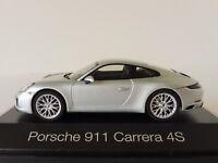 PORSCHE 911 Carrera 4S Coupe 1/43 HERPA 071055 Rhodium-Silvermetallic