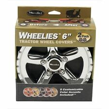 "2 New Wheelies Lawn Mower Garden Tractor Wheel Covers Hub Caps for 6"" Wheels 186"