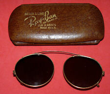 1930s Original B&L RAY BAN 12K GOLD Filled Clip On vtg Rare Aviator Sunglasses