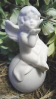 latex angel mold plaster cement angel on globe mould