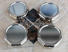 Four Octagon Shaped Pill Boxes.  SALE.