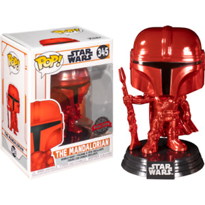 Star Wars: The Mandalorian - Mandalorian Red Metallic Pop! Vinyl [RS]
