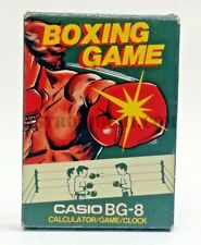 CASIO BOXING GAME RARE BG-8 CALCULATOR CLOCK ELECTRONIC COMPUTER NEW NEVER USED