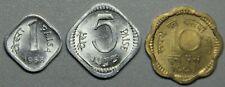 1968,1972 India 1-5-10 Paisa 3 Coin BU Set-Lot 4
